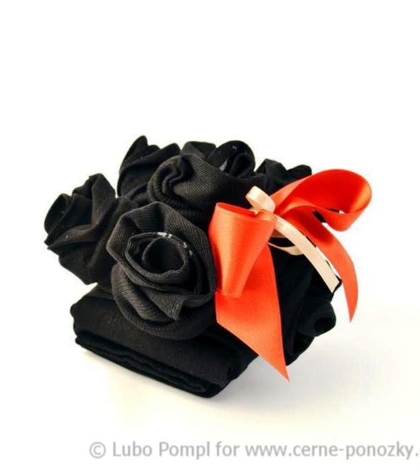Ponožkový dort - květinový